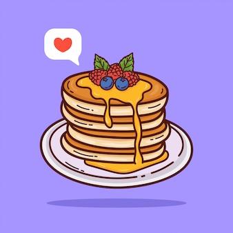 Illustrazione del fumetto del pancake