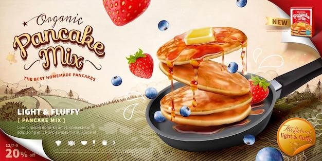 Annunci di mix di pancake