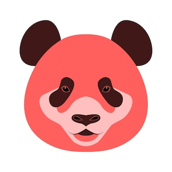 Icona testa di animale orso panda