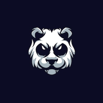 Modello logo panda e-sports team