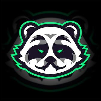 Logo di gioco panda esport