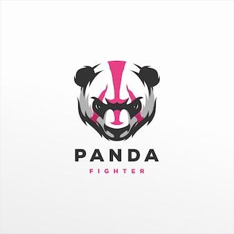 Design del logo sportivo da gioco panda