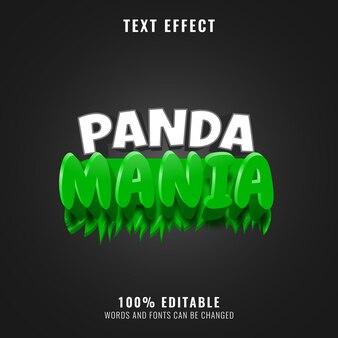 Effetto testo del logo del titolo del gioco della giungla di panda mania
