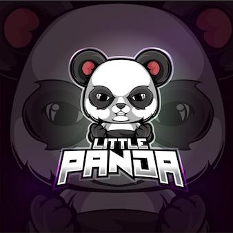 Panda mascotte esport logo design dell'illustrazione