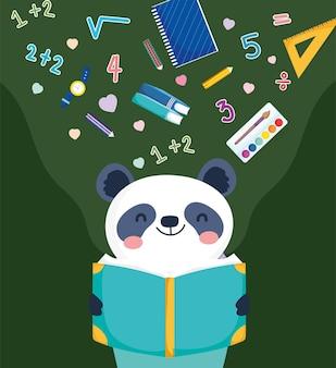 Panda che legge un libro