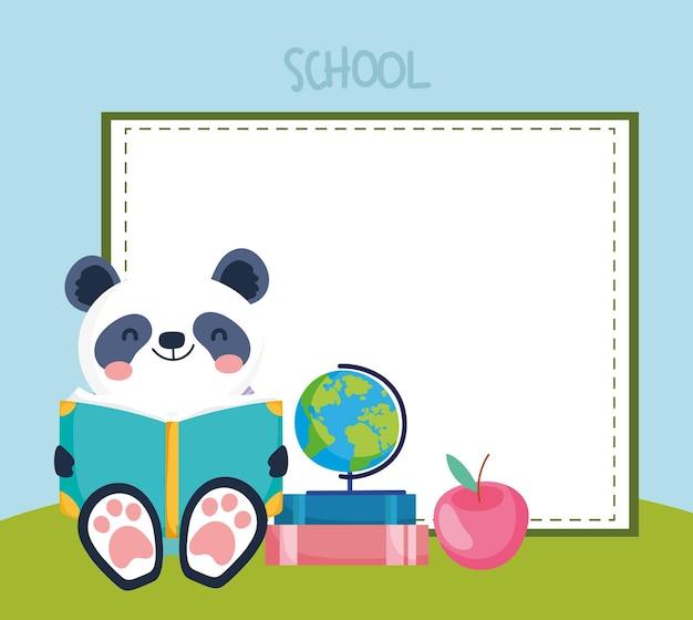 Animale della scuola panda