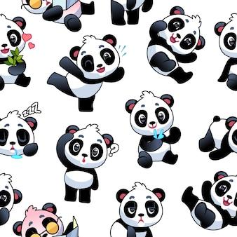 Modello senza cuciture di panda