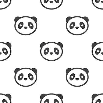 Panda, modello vettoriale senza soluzione di continuità, modificabile può essere utilizzato per sfondi di pagine web, riempimenti a motivo
