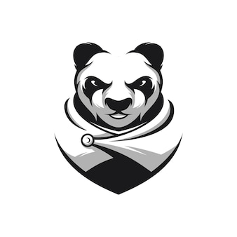 Panda warrior mascot