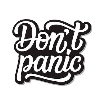 Non lasciarti prendere dal panico