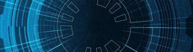 Priorità bassa di tecnologia del cerchio di sicurezza di panorama