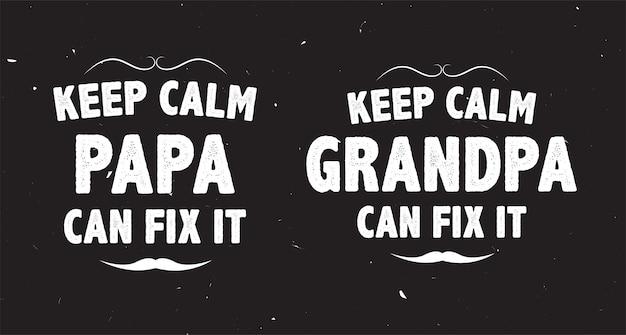 Citazione di papà e nonno