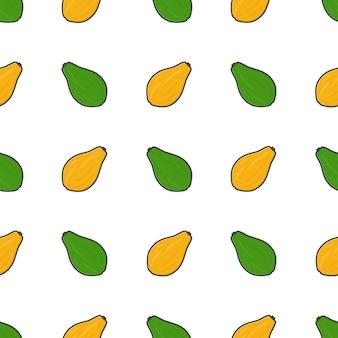 Modello senza cuciture della frutta della papaia. illustrazione di papaya fresca