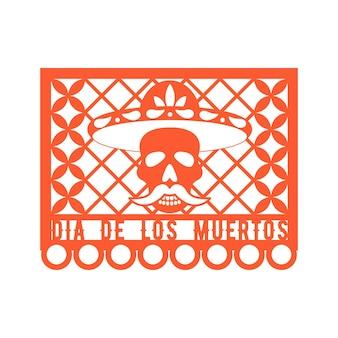Papel picado decorazioni in carta messicana per la festa