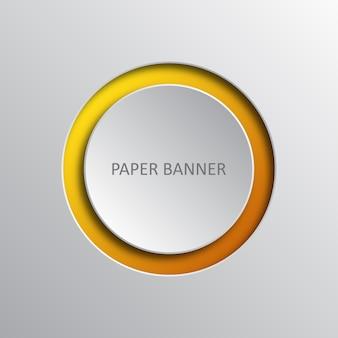 Banner di infografica origami di carta arte. illustrazione.