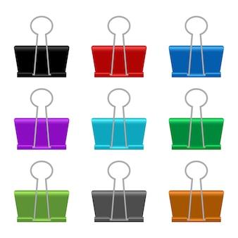 Illustrazione di clip di carta legante su sfondo bianco