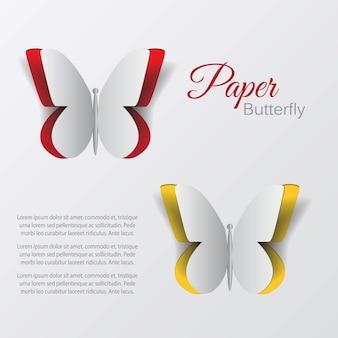 Farfalla di carta. vettore