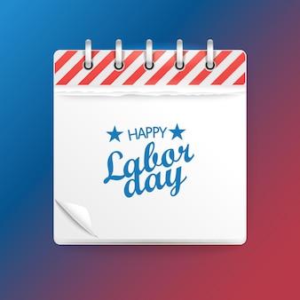 Calendario cartaceo. buona festa dei lavoratori