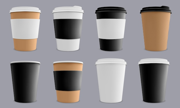Caffè o ristorante di tazze di cartone di carta