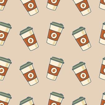 Tazze di caffè in carta modello senza soluzione di continuità