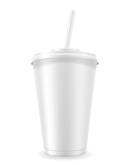 Bicchiere di carta per soda su bianco