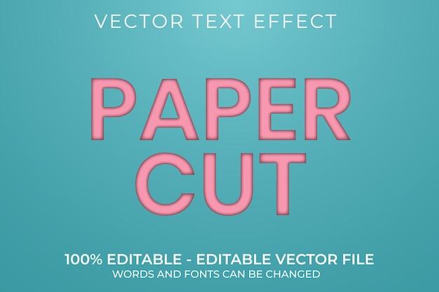 Effetto di testo modificabile 3d tagliato carta