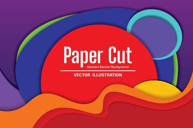 Banner di carta tagliata. disegno vettoriale
