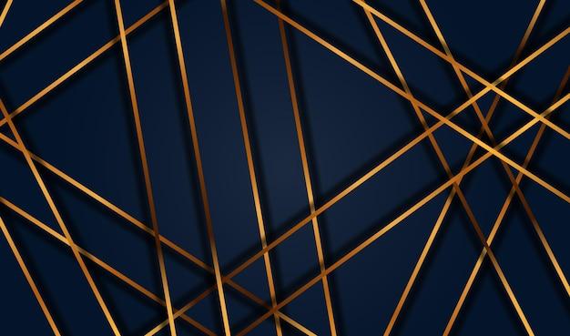 Carta tagliata sfondo oro di lusso con struttura in metallo 3d abstract