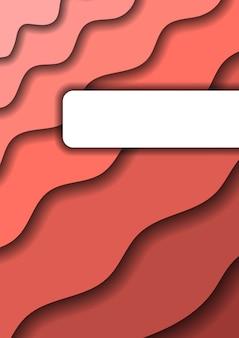 Priorità bassa delle onde e delle ombre del taglio della carta