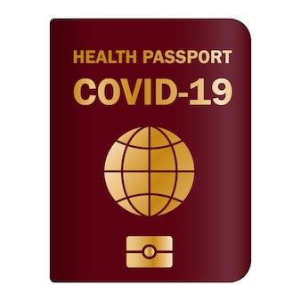 Documento cartaceo e digitale per dimostrare che una persona è stata vaccinata con il vaccino covid-19. certificato di immunità covid-19 per viaggiare sicuri. passaporto sanitario elettronico e cartaceo