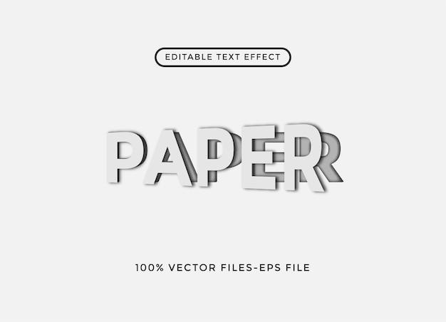 Illustrazione vettoriale di carta modificabile effetto testo