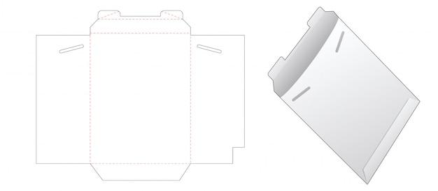 Modello fustellato busta di carta