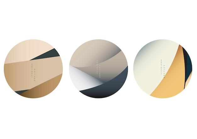 Sfondo pieghevole in carta con motivo giapponese in stile orientale. icona della curva e vettore di simbolo. progettazione del layout del banner.