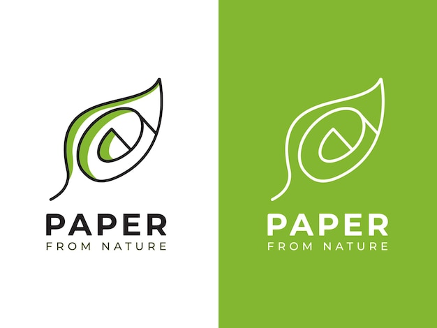 Carta dal concetto di design del logo della natura