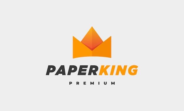 Re di carta logo icon design vector illustration