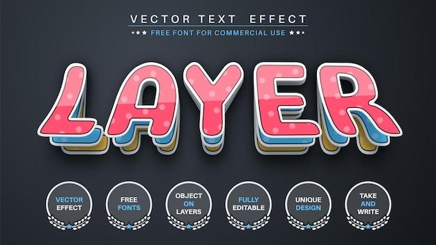 Livello di carta modifica lo stile del carattere dell'effetto del testo
