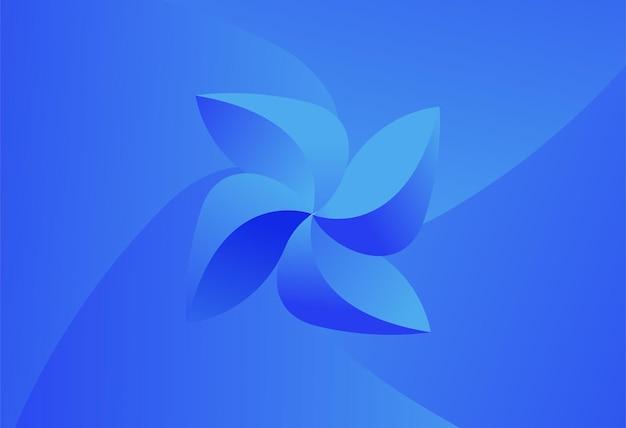 Cartiera colore blu sfondo vettoriale illustrazione