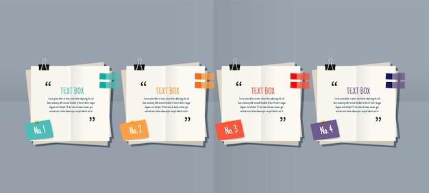 Modelli di casella di testo per note di carta