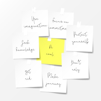 Note di carta. motivazioni note concetto.