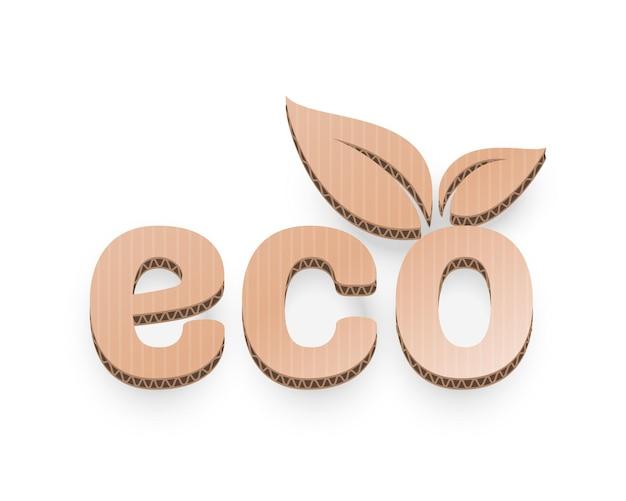 Foglia organica di carta dell'icona di un albero su uno sfondo bianco vettore
