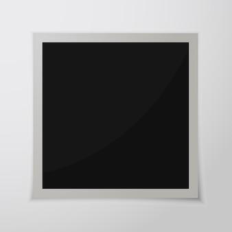 Portafoto in carta con ombra. cornice per foto retrò isolata