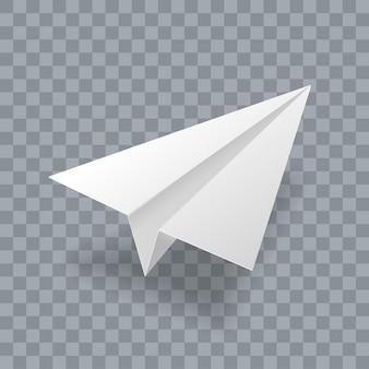 Modello 3d realistico aereo di carta.