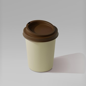 Tazza di caffè realistica di carta, tazze da caffè isometriche.