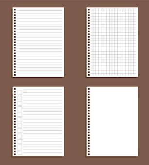 Foglio di carta in cucitura e in una gabbia isolata, per fare la lista