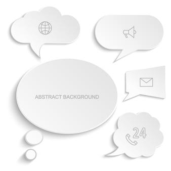 Set di bolle di discorso di carta