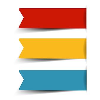 Adesivo di carta grande insieme isolato su fondo bianco con maglia di gradiente