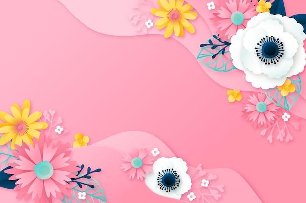 Sfondo floreale in stile carta