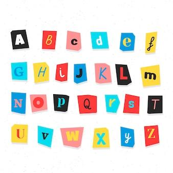 Pacchetto di lettere di nota di riscatto in stile carta