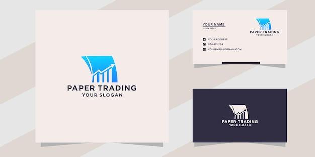 Modello di logo commerciale di carta