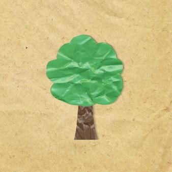 Simbolo di legno di carta